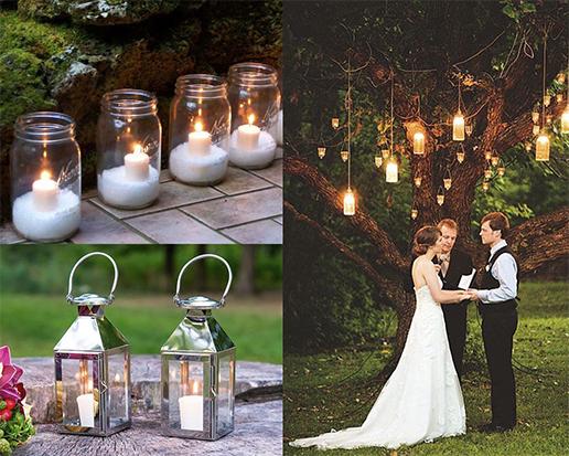 Ideas para decorar tu boda farolillos y velas chic hunting - Farolillos para velas ...