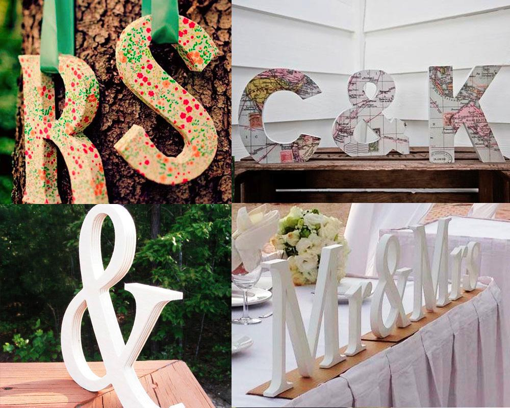 Ideas para decorar tu boda letras chic hunting - Ideas para decorar fiestas ...