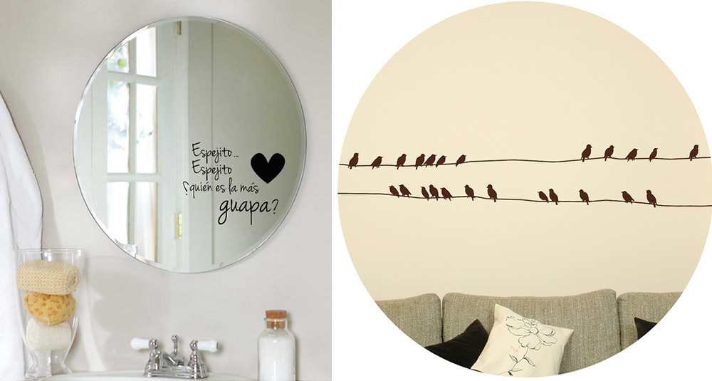 Chic hunting vinilos para paredes la forma m s - Espejos para rebotar el mal ...